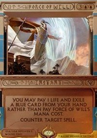 Force of Will - Foil - Masterpiece Series: Amonkhet Invocations