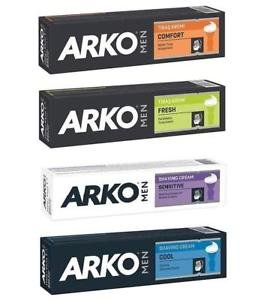 Arko Men shaving Cream 100g *Combo Set of 4* (Sensitive, Cool, Comfort, Fresh)