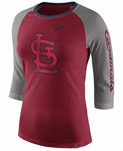 - Nike Women's St. Louis Cardinals Red Tri-Blend 3/4-Sleeve Raglan T Shirt (Large)