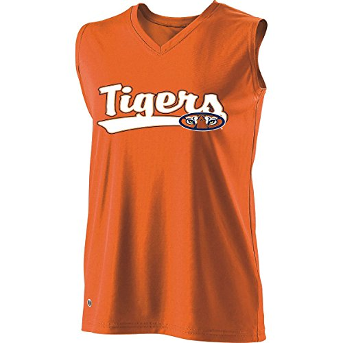 Holloway Sportswear Girls Curve Sleeveless Replica Jersey. 228253 Auburn L by Holloway
