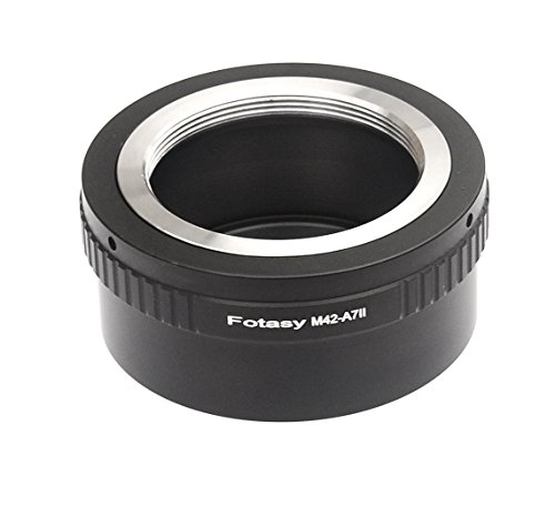 Fotasy A742 Pro Copper M42 42mm Screw Mount Lens to Sony A7II A7S Full Frame Mirrorless Camera Adapter (Black)