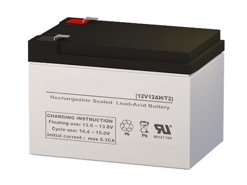 NP12-12 Compatible Sealed Lead Acid Battery 12V 12AH w/ F2 Terminal by SigmasTek