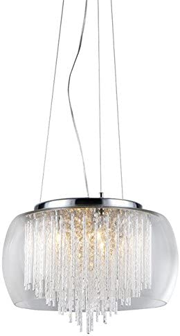 Whse of Tiffany RL7940-5 Odysseus Chrome and Crystal 5-Light Chandelier