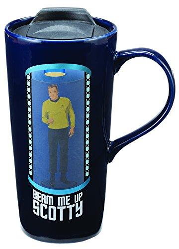 Vandor Star Trek Beam Me Up Scotty 20 Oz. Travel Mug (80751) (Star Trek Transporter Heat Changing Coffee Mug)