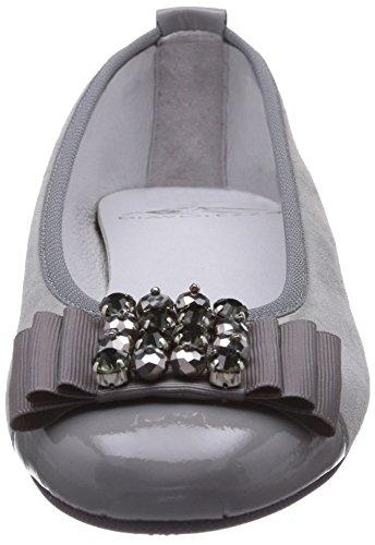 Donna Platform Isolve Diavolezza Grau grigio Ballerine Grey Flat 1xzzqdwTBP
