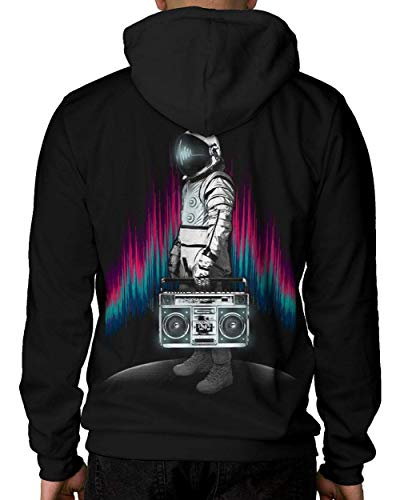 INTO THE AM Astroblaster Men's Graphic Pullover Hoodie Sweatshirt (Large)