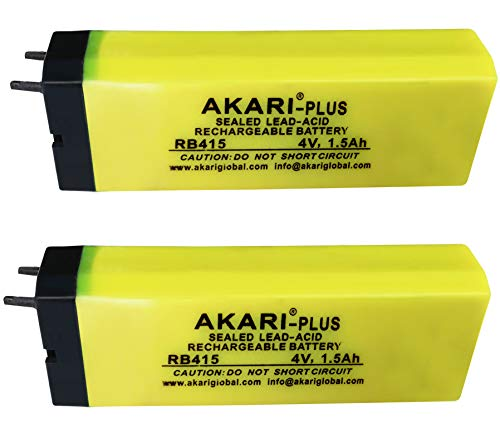 Kit4Curious 4v 1. 5Ah Maintenance Free Lead Acid Rechargeable Battery   Pack of 2 Pcs