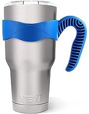 Tumbler Handle for YETI Rambler Cup, ALIENSX Anti Slip Travel Mug Grip Cup Holder for Stainless Steel Tumblers, Yeti, Ozark Trail, Rtic, ,Sic and More Tumbler Mugs BPA Free