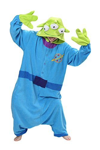 Sweetdresses Adult Unisex Animal Sleepsuit Kigurumi Cosplay Costume Pajamas (Large, Toy Story Aliens) -