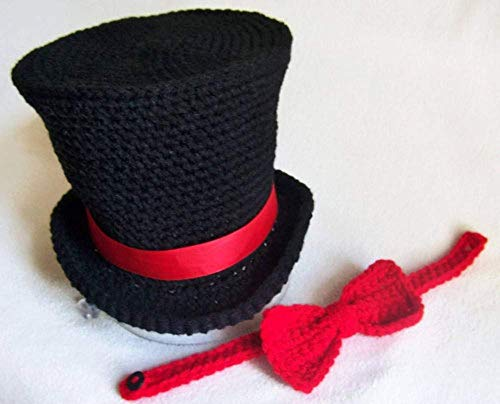 Plague Doctor Hat And Bowtie, Photo Prop, Baby