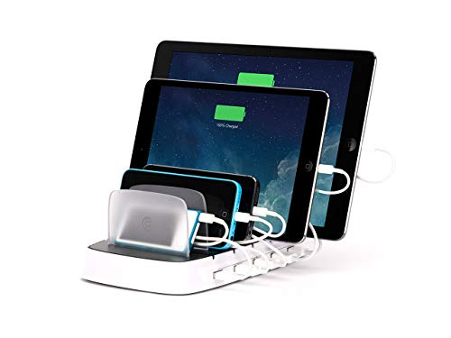 (Griffin PowerDock 5 - Multi-Charger Dock [Charges 5 USB devices] [For iPad, for iPhone, and for iPod])