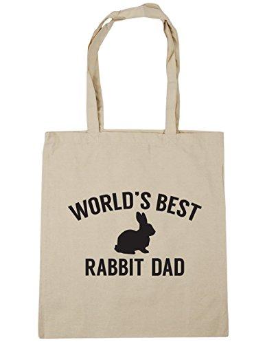 HippoWarehouse del mundo mejor papá de conejo bolsa de la compra bolsa de playa 42cm x38cm, 10litros Natural