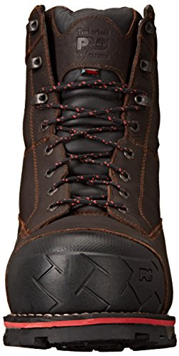 Timberland Pro Mens 8 Boondock Comp-Toe Waterproof Work Boot Brown Tumbled Leather