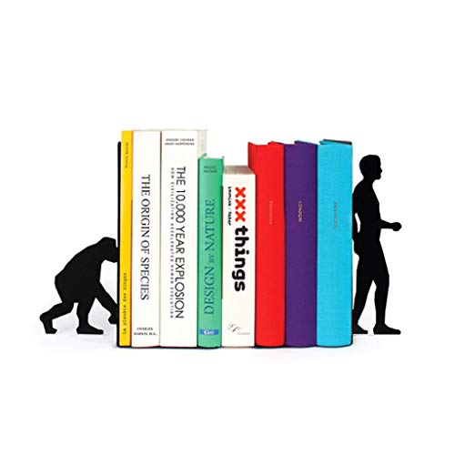yaya Creative Metal Bookends Apes Evolution Bookstand Iron Support Holder Desk Stands for School Stationery and Office…