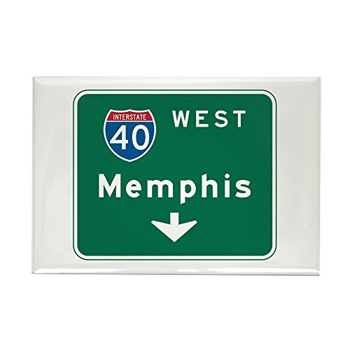 CafePress - Memphis, TN Highway Sign - Rectangle Magnet, 2
