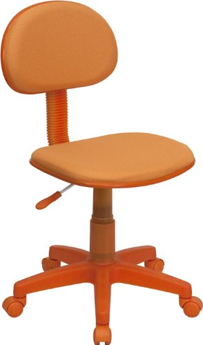 Flash Furniture Orange Fabric Swivel Task Chair
