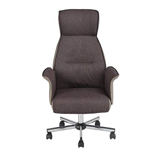 HOMY CASA Homycasa Leisure Brow Fabric Home Office Chair Height Adjustable Chair