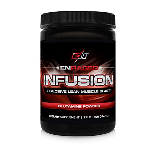 ENRAGED NUTRITION INFUSION Explosive Glutamine Blast: Advanced Amino Acid Formula For Muscle Recovery | Pharmaceutical-Grade Glutamine Powder – No Fillers or Binders, 500 Grams
