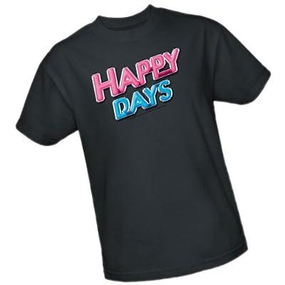TV Show Logo -- Happy Days Adult T-Shirt