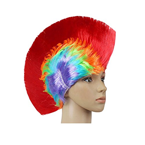 Evaliana Mohawk Wig Cockscomb Halloween Costume Punk Mohican