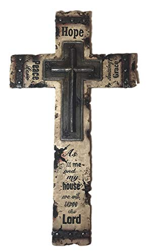 Hope, Peace, Grace Large 15 Inch Wall Cross, Home Decor and Gift