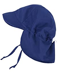 UPF 50+ UV Ray Sun Protection Baby Hat w/Neck Flap & Drawstring
