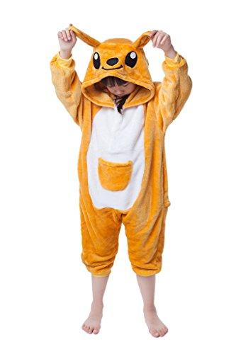 [Kangaroo Kid's Costume Cosplay Anime Onesie Children Kigurumi Pajamas XLarge] (Childrens Kangaroo Costume)