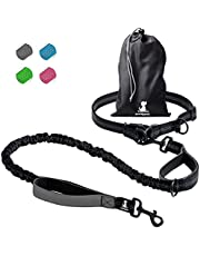 SparklyPets Hands-Free Dog Leash for Medium and Large Dogs – Professional Harness with Reflective Stitches for Training, Walking, Jogging and Running Your Pet