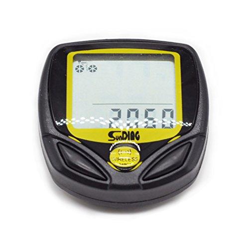 JLER Bike Computer, Blusmart Waterproof LCD Bicycle Odometer Multi Function Speedometer with LCD Backlight by JLER