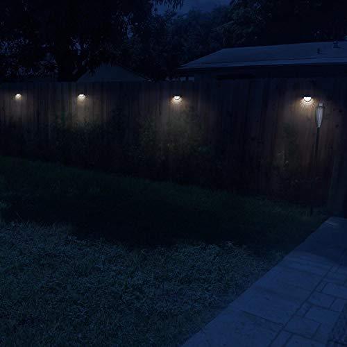 Mandii LED Solar Wall Light Fence Light Solar Light Outdoor Waterproof Garden Step Lights by Mandii (Image #6)