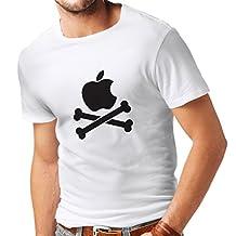N4269 T-shirt male Funny apple and Bones