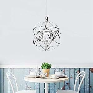GD 20cm Modern LED Suspension Chandelier Light Sphere Pendant Ceiling Lamp for Restaurant Bar Home Color White/Color Warm White/