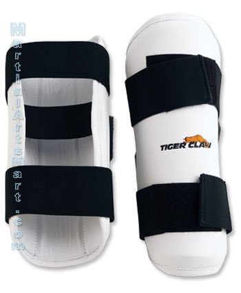 Tiger Claw White Vinyl Forearm Guard - Size Child Large by Tiger Claw (Image #1)