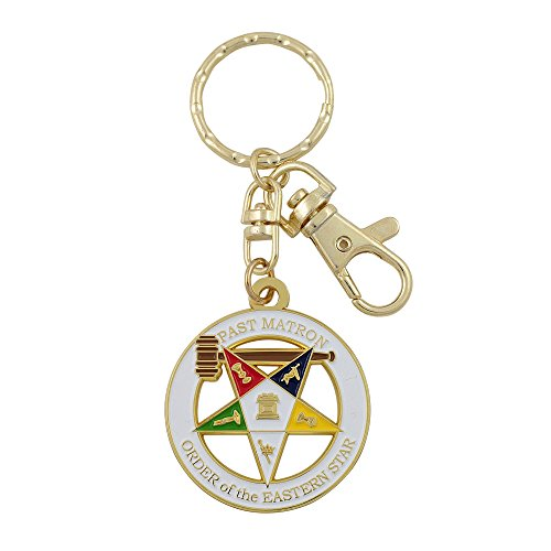 Past Matron Order of the Eastern Star Key Chain with Purs...