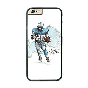 NFL iPhone 6 Black Cell Phone Case Detroit Lions QNXTWKHE2163 NFL 3D Design Phone Case Cover