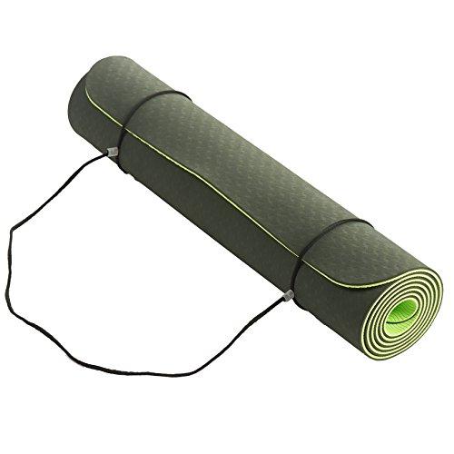 J&A Fitness Non Slip Yoga Mat, 6mm Thick Anti-Tear Fitness Yoga Mats Execise, Pilates Gym,72