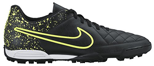 Nike Men's Tiempo Rio II TF Football Boots, Black/Black/Green (Black/Black-Volt), 6 UK