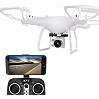 Fiaya 2.4G 4CH 6-Axis Gyro HD WIFI Camera FPV Hovering RC Quadcopter Drone (white)