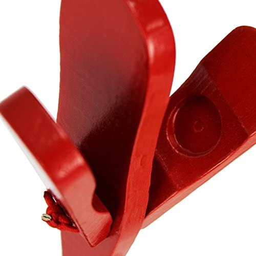 A-Star Wooden Red Castanet Clapper Educational School Percussion