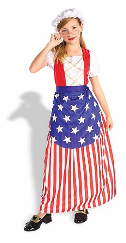 Wire Rimmed Glasses Costume (Betsy Ross Child Costume - Small)
