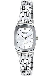 Armitron Women's 75/5195SVSV Cushion Case Diamond Dial Silver-Tone Bracelet Watch