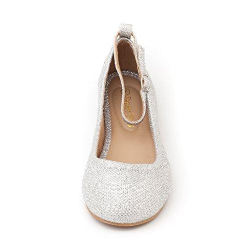 buy cheap ffead c64a4 ... Paire De Rêve Femmes-fina-sangles Cheville Bretelles Ballerines  Chaussures Argent Paillettes ...