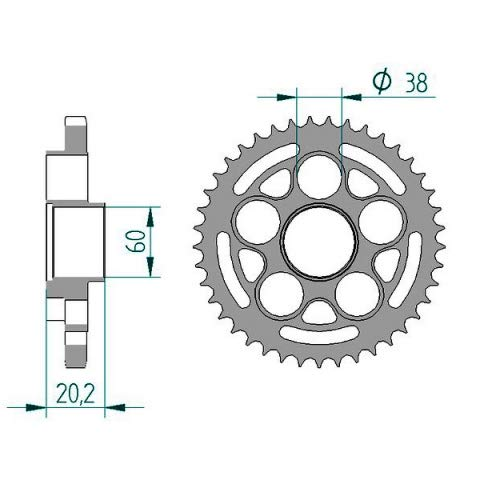 15/ /45/ anno di costruzione Did catena set acciaio Ducati 821/Hyperstrada /108/did525vx rivetto b200aa//b201ja//b300fa//B301