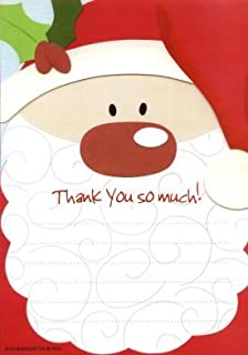 10 sheet childrens christmas thank you letters kit santas santa christmas thank you sheets pack of 20 spiritdancerdesigns Image collections
