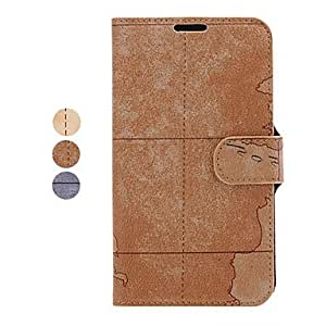 The Earth Pattern Leather Samsung Mobile Phone Cases for Galaxy Note 2/7100(3 Colors) --- COLOR:Beige