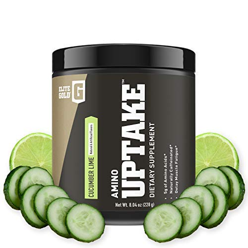 Complete Nutrition Elite Gold Amino Uptake, Cucumber Lime, Amino Acid Supplement, Increase Energy, Support Muscle Recovery, Beta Alanine, L Citrulline, 8.46 oz Tub (30 Servings) ()