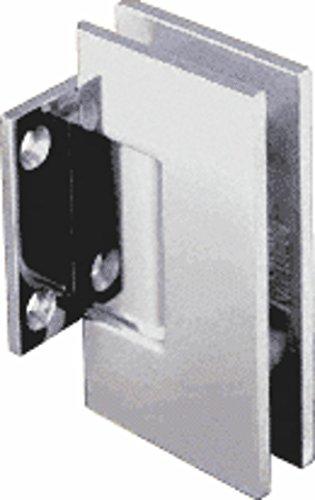 CRL Geneva Series Chrome Wall Mount Short Back Plate Hinge (5 Degree Pre-Set Model)