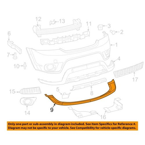 Genuine Chrysler 5178283AC Fascia Extension, Front
