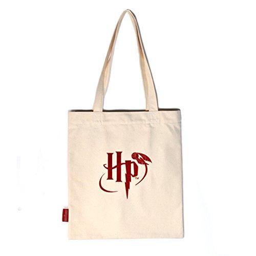 Harry Potter Shopping Bag Gryffindor Crest Half Moon Borse