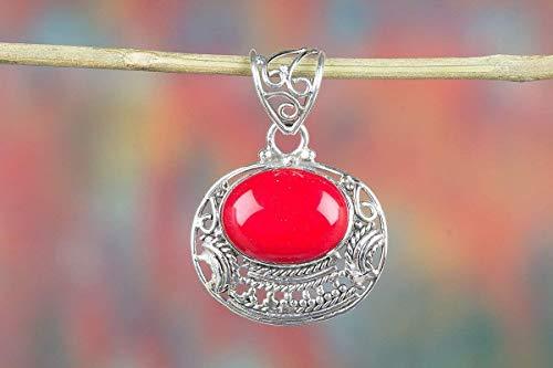 (Coral Pendant, Oval Shape Pendant, Hippie Pendant, Beautiful Coral Pendant, Top Quality Pendant, Gorgeous Pendant, Birthstone Pendant, Hottest Coral jewelry, Motivating Pendant, Handmade Pendant)